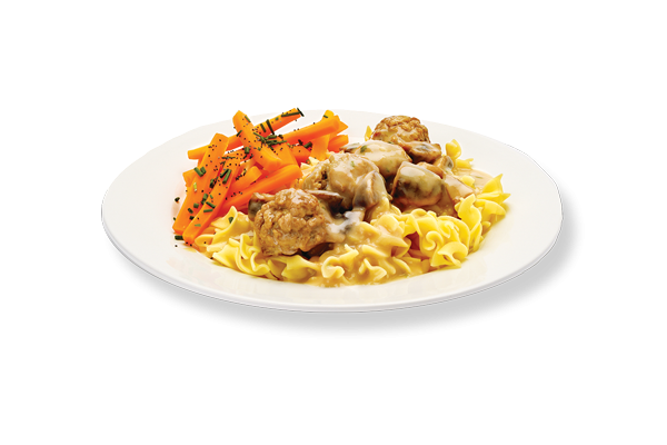 Veal meat balls with mushroom sauce