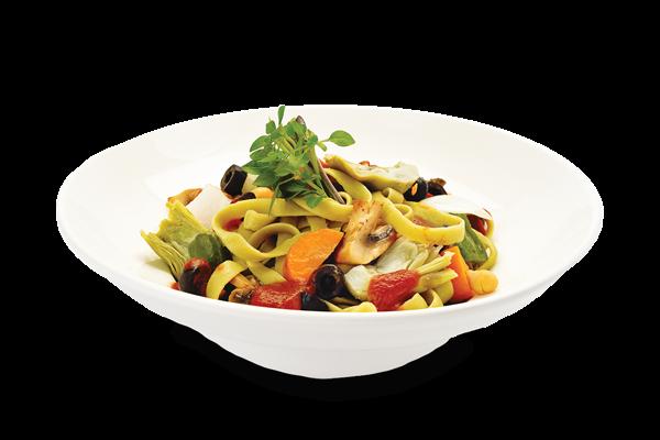 Fettucine aux légumes et tomates