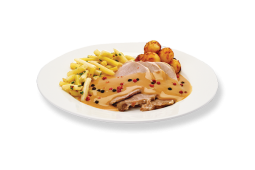 Roast Veal with pepper sauce